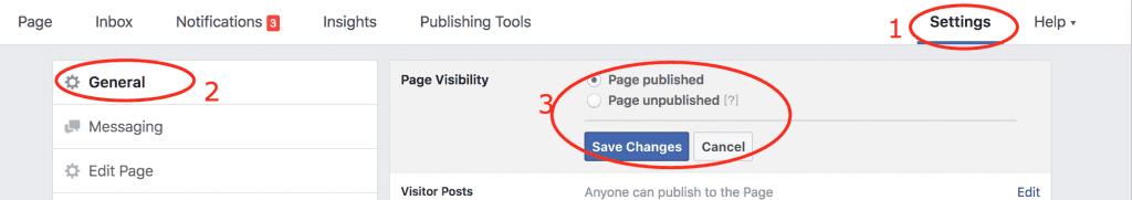 איך לפרסם את דף הפייסבוק במידה ולא רואים את הדף